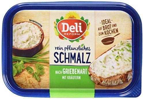 Deli Reform Rein pflanzliches Schmalz nach Griebenart, 16er Pack (16 x 200 g)