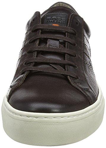 BOSS Orange Herren Noir_Tenn_ltws 10197209 01 Low-Top Braun (Dark Brown 201)