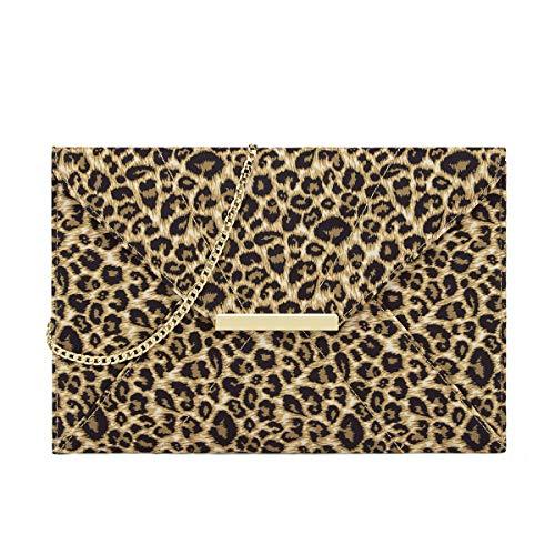 Anna Smith Bolso noche formal estampado leopardo mujer
