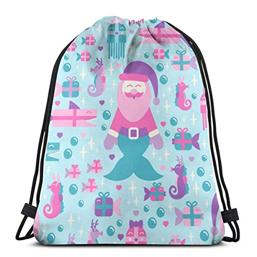a830e4431e022 best pillow Mersanta U0026 Friends in Pastel On Light Blue 45789 3D Print  Drawstring Backpack Rucksack Shoulder