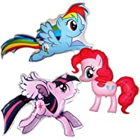 My Little Pony: Pinkie Pie, Rainbow Dash & Twilight Sparkle Supershape Foil Balloons (set of 3 balloons)