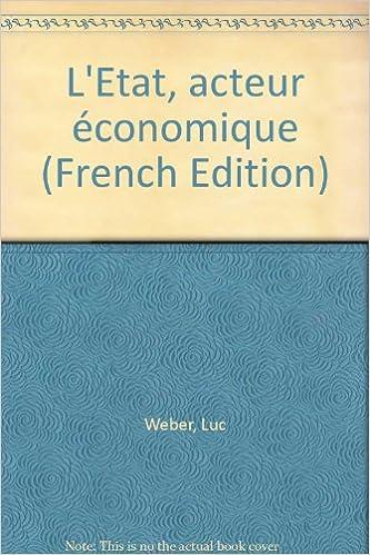 L Etat Acteur Economique Pdf Jansdoll Book