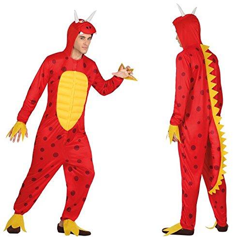 Disfraz de Dragón Rojo adulto, X-large