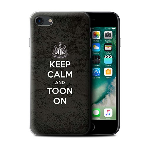 Officiel Newcastle United FC Coque / Etui pour Apple iPhone 7 / Geordie Design / NUFC Keep Calm Collection Toon Sur