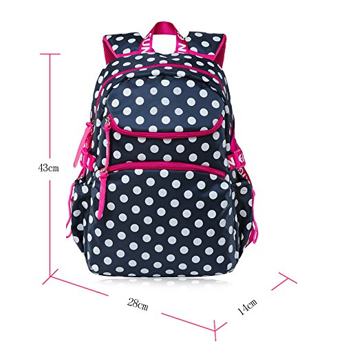 KINDOYO Wasserdichter Rucksack für Kinder Unisex Schultaschen Jungen Mädchen für Reisen, Wandern, Sport Königsblau # 8116
