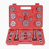 Coffret Repousse piston d'étriers de freins pour remplacement de disque Outil et adaptateurs , de mâchoire ou de plaquettes de frein, Set de 21 pièces Outils pour étrier de freins