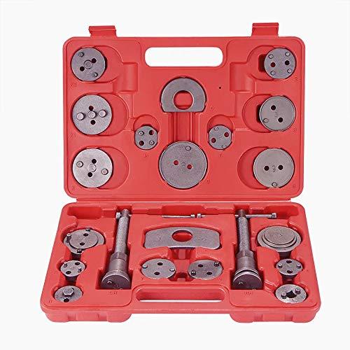 Coffret Repousse piston d'étriers de freins pour remplacement de disque Outil et adaptateurs , de mâchoire ou de plaquettes de frein, Set de 21 pièces Outils pour...