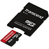 Transcend TS64GUSDU1 Extreme-Speed microSDXC Class 10 64GB Speicherkarte (45MB/s) mit SD-Adapter