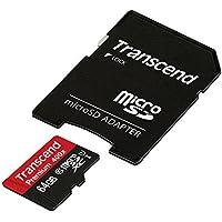Transcend TS64GUSDU1 Scheda di Memoria MicroSDXC da 64 GB con Adattatore, Classe 10 U1
