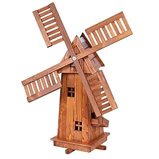 Große Windmühle aus Holz, imprägniert und kugelgelagert