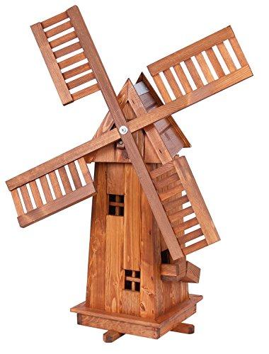 Décoratif 1 m haute Moulin à vent en bois imprégné avec roulements à bille