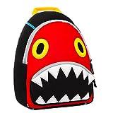 Longra Kinder Rucksäcke Kindergartenrucksack Vorschule Kleinkind Jungen/Mädchen Rucksack 3D Tier Tasche Schultaschen Rucksack Kind Niedliche Kindergarten Tasche (Rot)