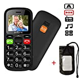 Dual SIM Unlocked GSM Big Button Mobile Phone for Elderly, artfone MT6261M Flash