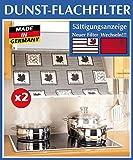 WENKO 2226020100 Dunst-Flachfilter – 2er Set, mit Sättigungsanzeige, für alle gängigen Abzugshauben, Zellwolle, Weiß - 3