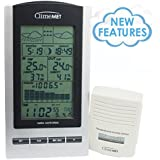 ClimeMET CM9088 NEW & improved Digital Wireless Weather Station NOW with Moon Phase, Sunrise & Sunset times