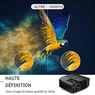 VANKYO Leisure 510 Vidéoprojecteur Rétroprojecteur 3600 Lumens LED Projecteur Soutien HD 1080p ,200 '' Affichage, HDMI, AV, VGA et USB Noir par VANKYO