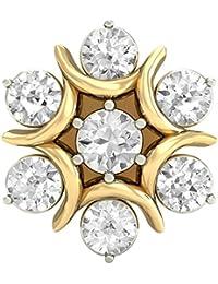 PC Jeweller The Zola 18KT Yellow Gold & Diamond Nose Pin