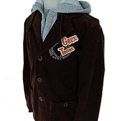 Jacke Mantel Kaputzenjacke Blazer Kaputzenblazer Cord (6 Jahre / 116, Braun) (Jungen Cord-blazer)