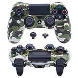 Pandaren® Ultra Rüstung Gang FPS Schale Gehäuse für PS4 Controller (tarnung grün)
