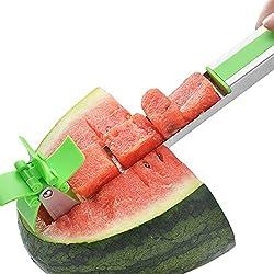 VANUODA Molino de Viento Cortador de Sandía, Cocina Rebanador Cuchillo de Fruta para Cortar Sandía Melón
