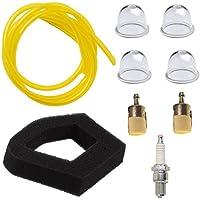 oxoxo Air Filter Fuel filtro Spark Plug 2feet Fuel Line with Primer Bulb for Honda GX22GX25GX31gx35hlt422ult425umk431umk435hhb25hhh25hht31s hht35s DSC-WX10FG110Replace 17672de z0h de 003