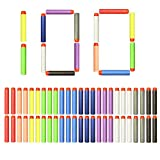 NextX Foam Darts Compatible with NERF Guns 100pcs Bullets Box PacKing for NERF N-strike Elite Series Blasters Toy Guns Target Games (10 colors)