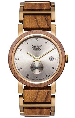 TENSE Premium // Hudson - Teakholz - Herren Holz-Uhr B4801T-G-S