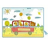 Pare-soleil de fenêtre de voiture pour bébé Stores de voiture Bande dessinée Motif Autobus scolaire Trois couches de protection solaire à ventouse Voiture Protection solaire pour votre enfant Bébé 2 P