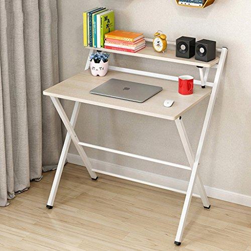 Cherry Küche Stuhl (Faltender Computer-Schreibtisch, der Schreibtisch-Ausgangsdesktop-kleine Schreibtisch-Zahnstangen lernt (Farbe : Maple cherry))