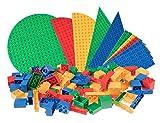 Strictly Briks - Premium-Anfänger-Set - 119 Bausteine & Bauplatten - Steine mit Großen Noppen - Kompatibel mit Großen Bausteinen Aller Führenden Marken - Blau, Grün, Gelb, Rot