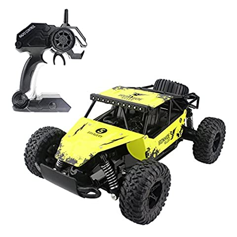 Hugine 1:16 20Km/h High Speed RC Car Off Road Vehicle 2.4G Racing Cars Rock Crawler Monster Truck Dune Buggy Savagery 4 Wheel Independent Suspension Radio Control Cars For Kids Adults Hobby Toys