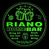 4x ccq37453-g RIANO Family Name Home Bar Pub Beer club Gift 3D Coasters