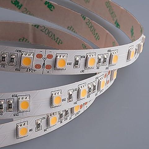 Mextronic LED Streifen LED Band LED Strip 5050 Warmweiß (2700K) 72W 500CM 24V IP20