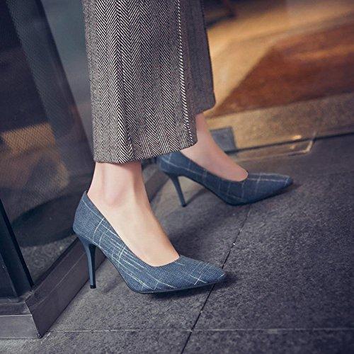 Chaussures Élégantes À Talons Bleus Pour Femmes De Misssasa