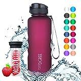 720°DGREE Trinkflasche 'uberBottle' - 1,5 Liter, 1500ml, Pflaume - Neuartige Tritan Wasser-Flasche - Water...