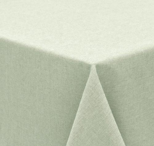 Tischdecke Leinen Optik, FARBE wählbar, Gartentischdecke Wasserabweisend, Eckig 130x260 cm,...