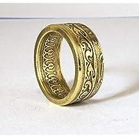 Tunesische Ring,Coinring, Münzring, Ring aus Münze, handgemacht, exotisch, Versprechen Ring, Siegelring, Verlobungsring
