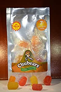 Chubears Multivitamin Gummies with 9 Vitamins including 400 IU of Vitamin D (Starter Pack of 10)