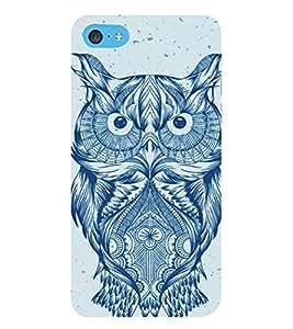 HiFi Designer Phone Back Case Cover Apple iPhone 6 Plus :: Apple iPhone 6+ ( Owl Bird Tattoo Art Design )