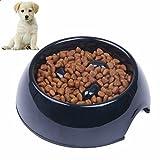 Qbuds Pet Fun Feeder Dog Bowl Slow Feeder, Interactive Bloat Anti Choking Dog Bowl Interactive Puzzle Cat Bowl