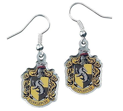 Ohrringe, Motiv: Harry Potter, Schmuck, Hufflepuff, Wappenmotiv (Replik Ohrringe)