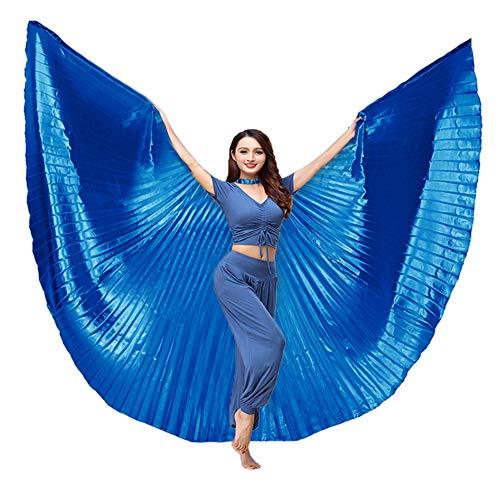 BellyLady Ägyptischer 360 Grad Flügel Isis Wings Bauchtanz Kostüm mit Stöcken - Ägyptische Bauchtänzerin Kostüm