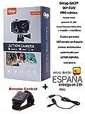 Camara deportiva GITUP GIT2P PRO edition 90º FOV (lente 90 grados) + control remoto + microfono externo. Sensor Panasonic MN34120PA - 16 Mpx - Grabación 2K - WIFI - LCD 1.5' .Incluye accesorios