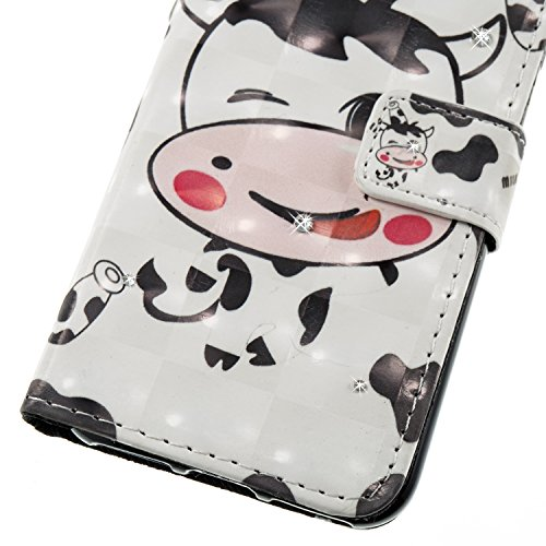 iPhone 6S Plus Hülle,iPhone 6 Plus Case,iPhone 6S Plus Cover - Felfy PU Ledertasche Strap Flip Standfunktion Magnetverschluss Luxe Bookstyle Ledertasche Nette Retro Mode Painted Muster Abdeckung Schut Cows*