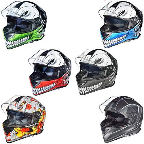RT-824 Integralhelm Motorradhelm Kinderhelm Motorrad Integral Roller Helm rueger, Größe:XL (61-62), Farbe:Green Hollow