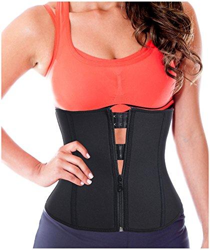 Damen Hot Thermo Schweiß Neopren Shapers Gürtel Taillenmieder Girdle für Gewicht Loss (Schwarz, M Für 38-40) (Gürtel Slim Baumwolle)