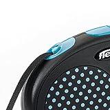 flexi . Roll-Leine Design, Gurt 5 m für Hunde bis Maximal 15 kg , S, blau - 4