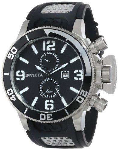Invicta Invicta Corduba 756 - Reloj analógico de cuarzo para hombre, correa de silicona color negro (agujas luminiscentes)