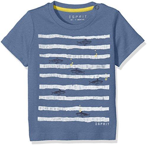 ESPRIT Baby-Jungen T-Shirt RL1008202, Blau (Pastel Blue 412), 62
