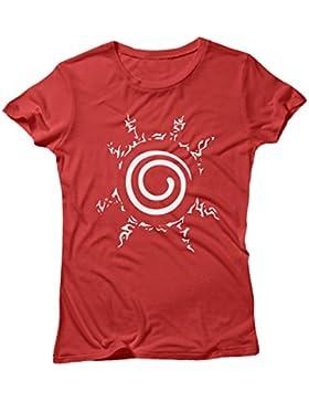 LaMAGLIERIA Camiseta Mujer Naruto Seal White Print - Camiseta 100% Algodòn